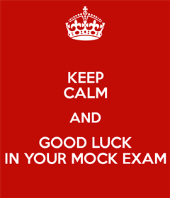 Leaving Certificate Mock Exam Timetable