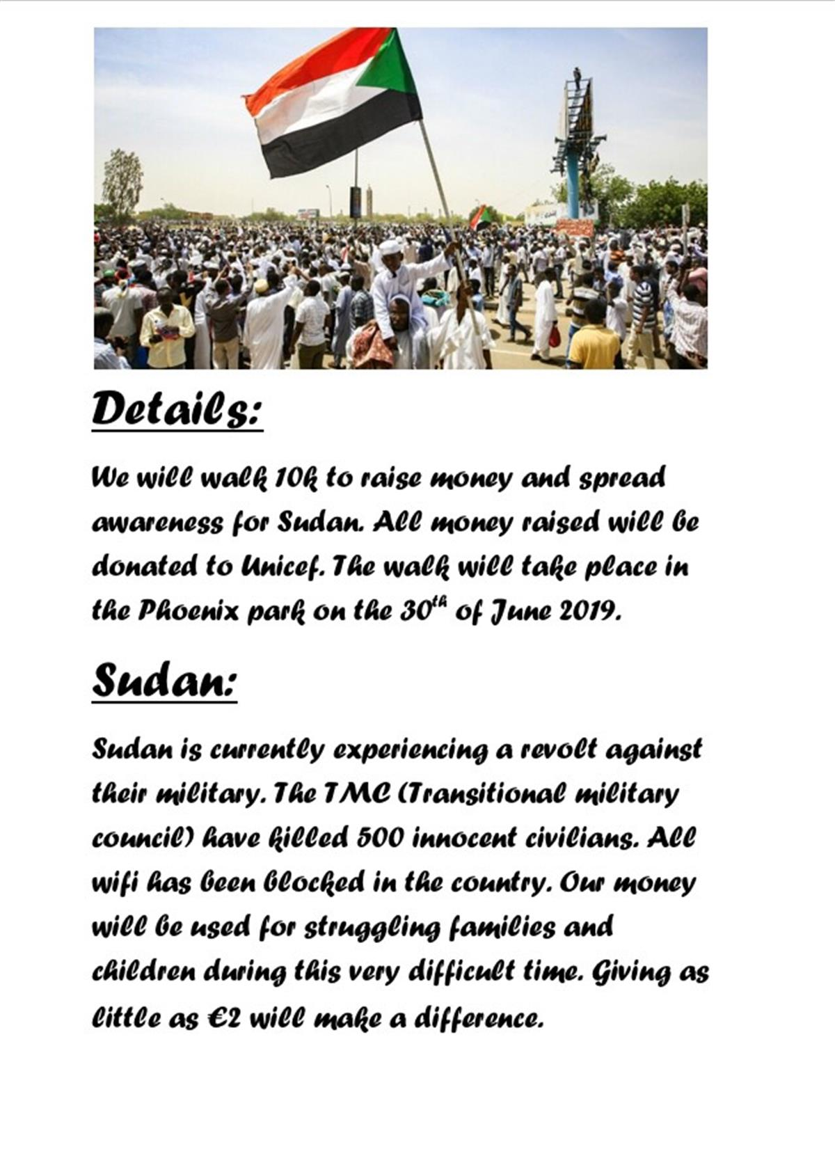 Walk For Sudan: Message from TY Ameera Saeed.