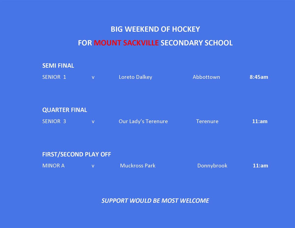 Big Hockey Games Weekend
