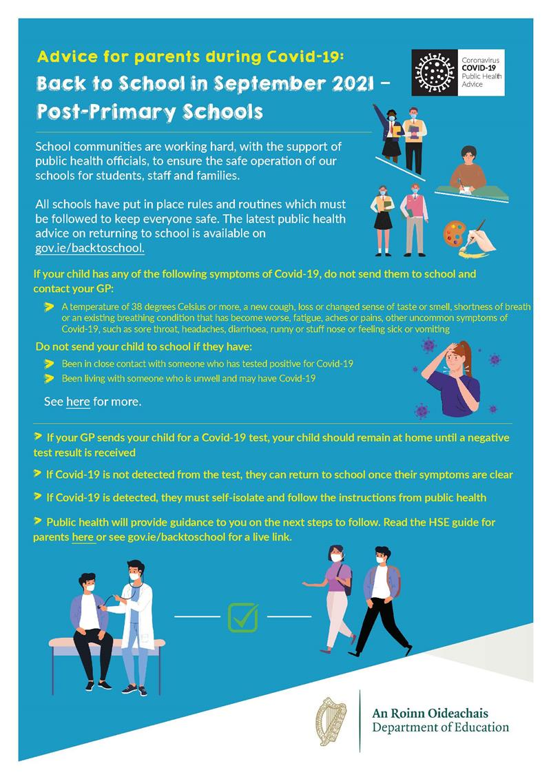 Return to School Advice for Parents Page1