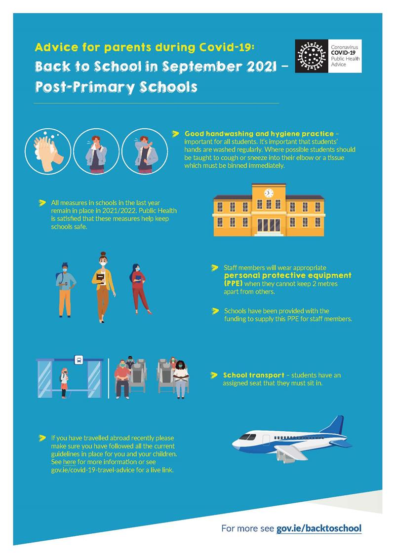 Return to School Advice for Parents Page2